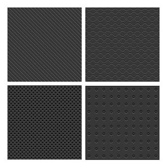 Conjunto de patrones sin fisuras de metal