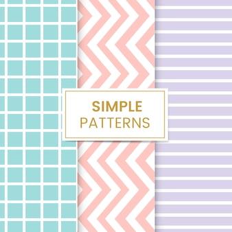 Conjunto de patrones sin fisuras mezclado pastel