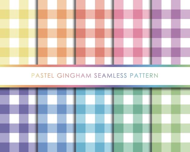 Conjunto de patrones sin fisuras de moña pastel