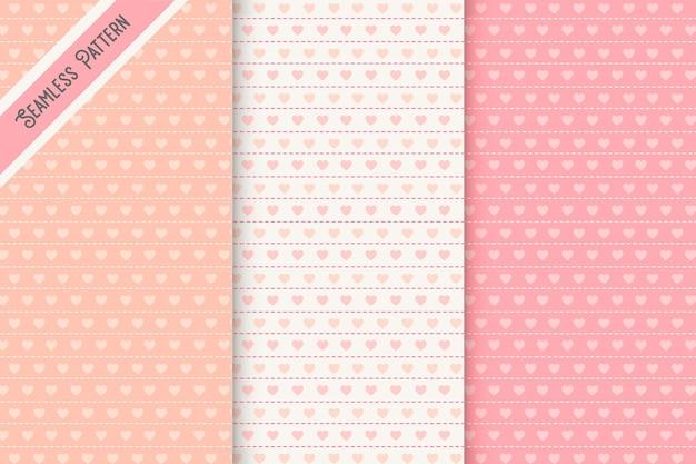 Conjunto de patrones sin fisuras de tres corazones
