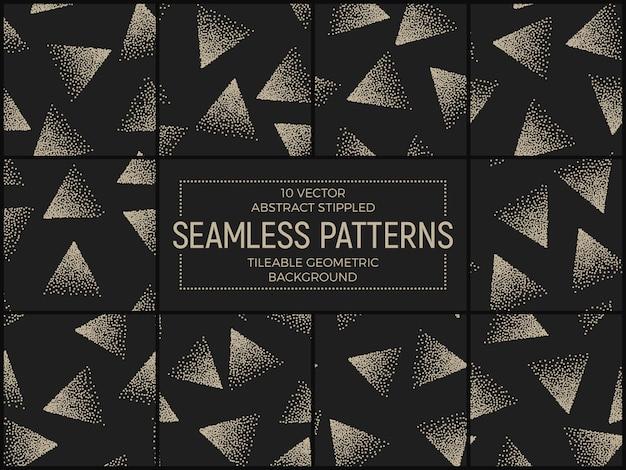 Conjunto de patrones sin fisuras triángulos punteados abstractos