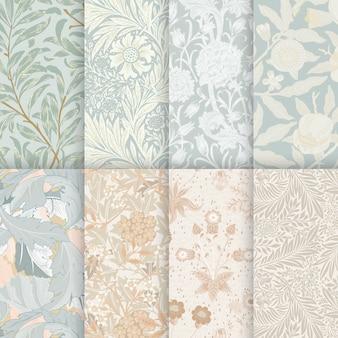 Conjunto de patrones de flores