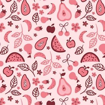 Conjunto de patrones de frutas