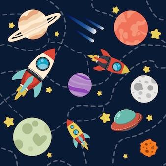 Conjunto de patrones de galaxia