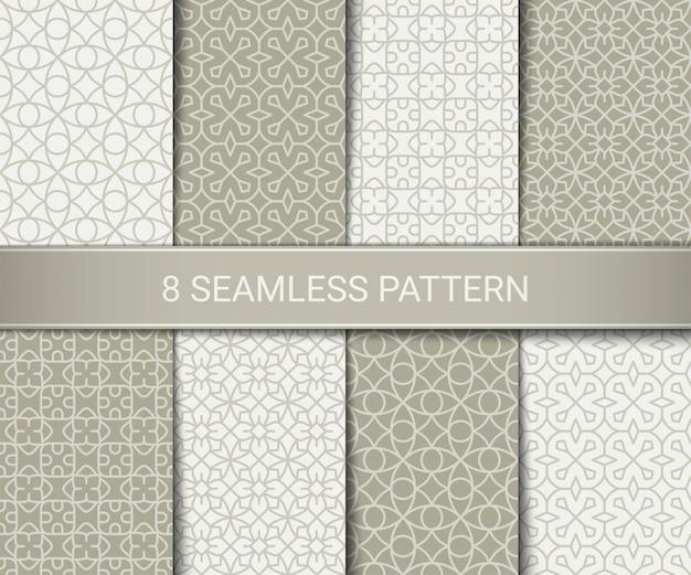 Conjunto de patrones geométricos abstractos sin costura