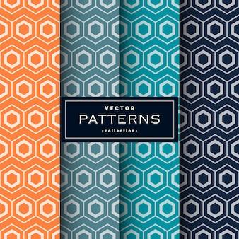 Conjunto de patrones geométricos abstractos sin fisuras