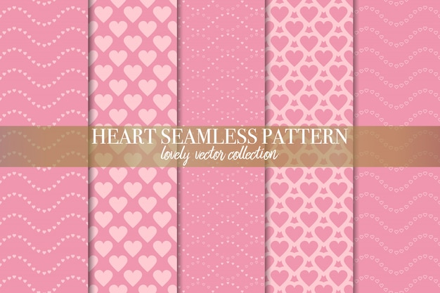 Conjunto de patrones geométricos sin costura rosa