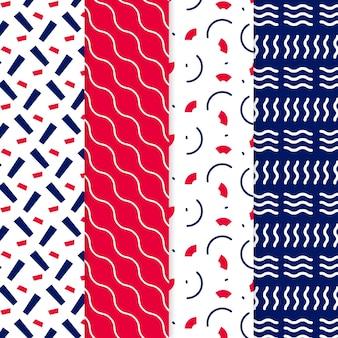 Conjunto de patrones geométricos dibujados