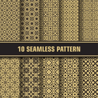 Conjunto de patrones geométricos de lujo