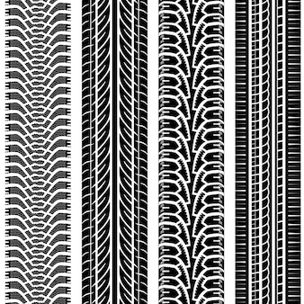 Conjunto de patrones de huellas de neumáticos