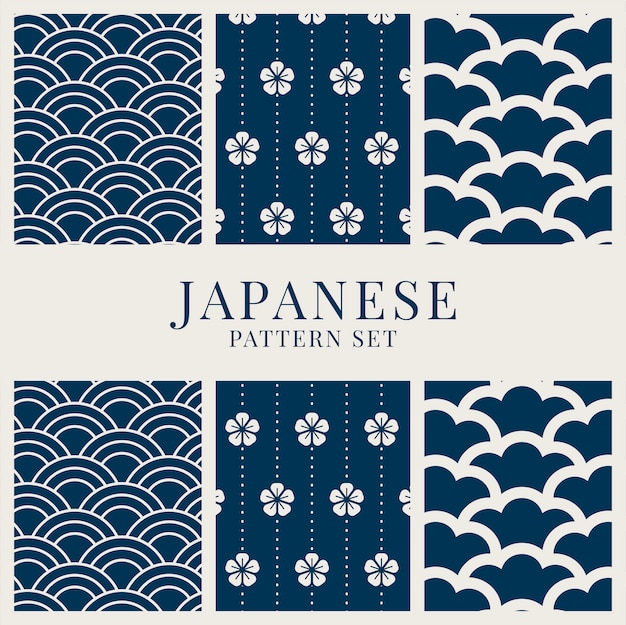 Conjunto de patrones de inspiración japonesa