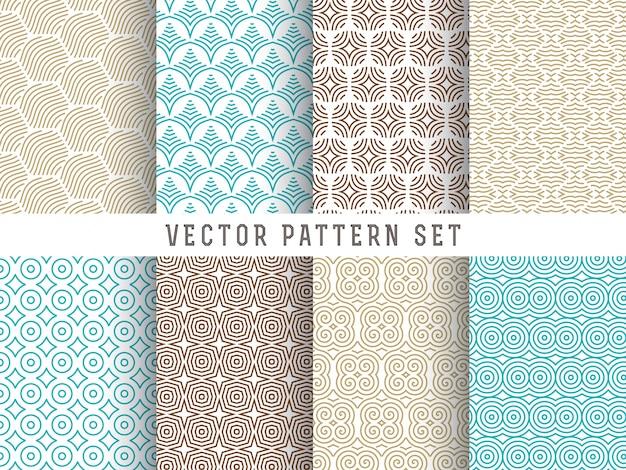 Conjunto de patrones de líneas