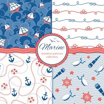 Conjunto de patrones marinos