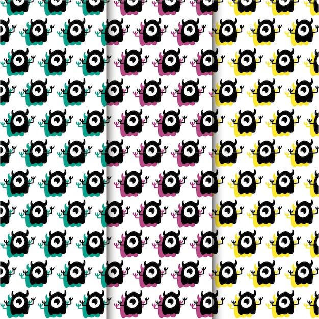 Conjunto de patrones de monstruo de un ojo