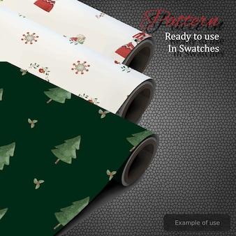 Conjunto de patrones de navidad