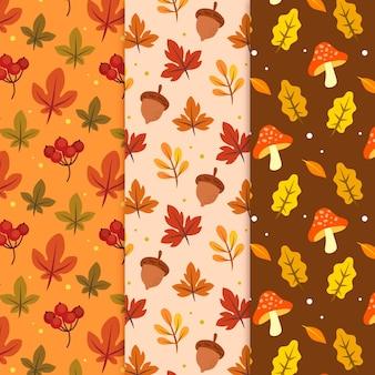 Conjunto de patrones de otoño