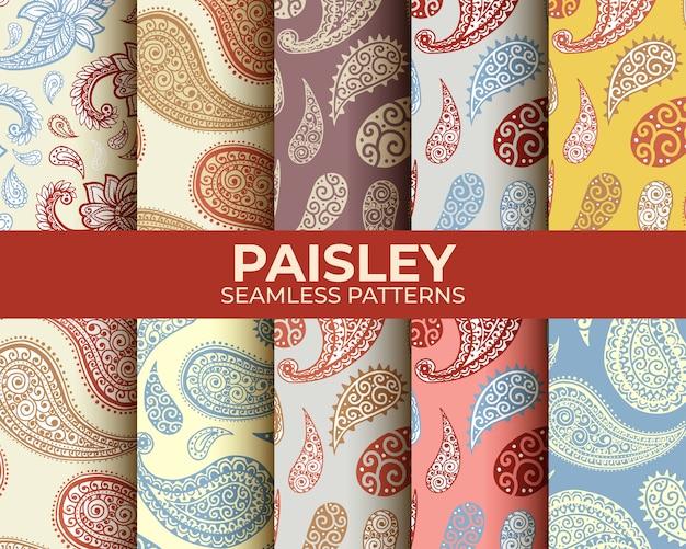 Conjunto de patrones de paisley