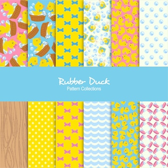 Conjunto de patrones de pato de goma
