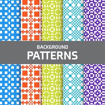 Conjunto patrones pixelados