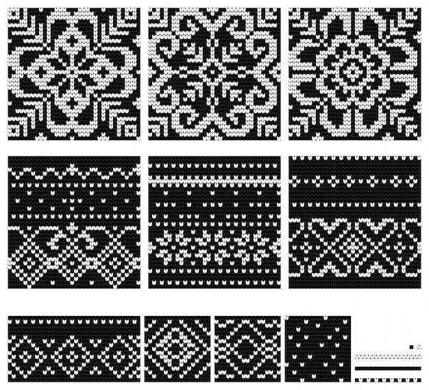 Conjunto de patrones de punto de la estrella báltica.