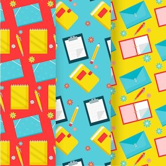 Conjunto de patrones de regreso a la escuela