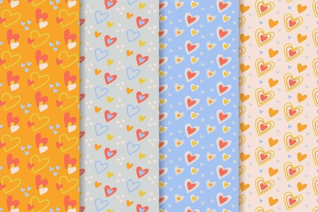 Conjunto de patrones de san valentín