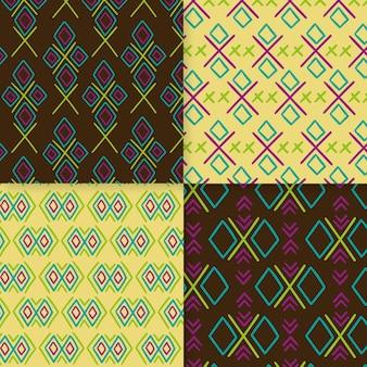 Conjunto de patrones de songket tradicionales