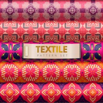 Conjunto de patrones textiles