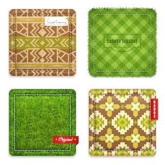 Conjunto de patrones de textura de alfombra realista