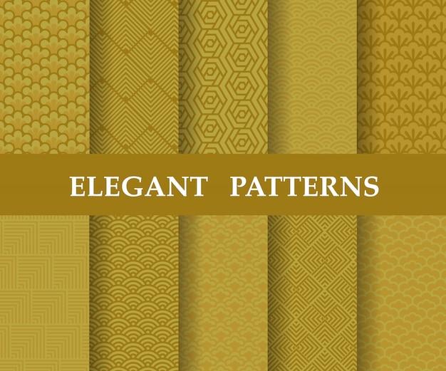 Conjunto de patrones de textura china,