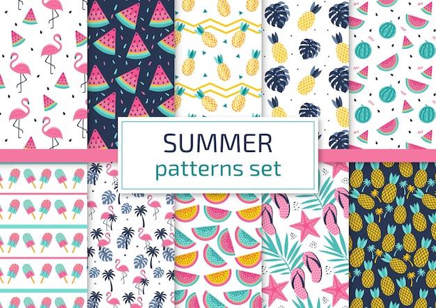 Conjunto de patrones de verano