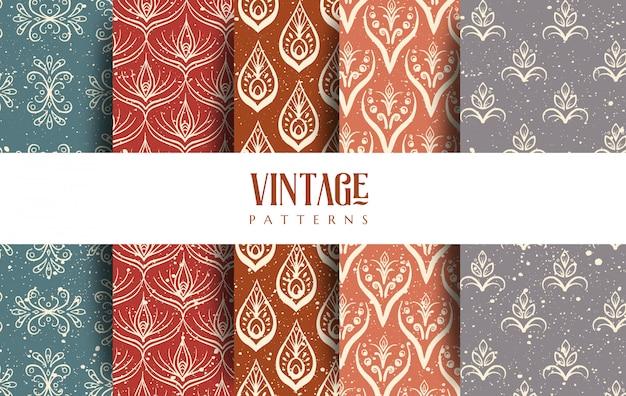 Conjunto de patrones vintage