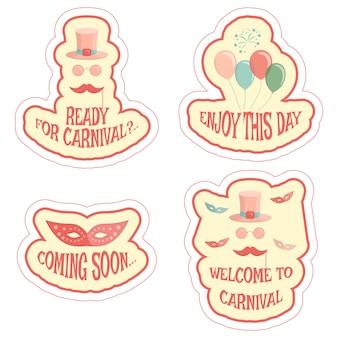 Conjunto de pegatinas de carnaval
