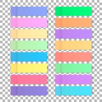 Conjunto de pegatinas de colores