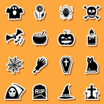 Conjunto de pegatinas de halloween