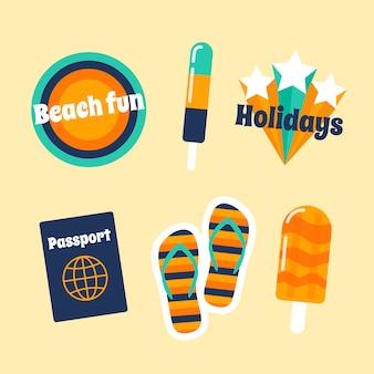 Conjunto de pegatinas con tema de viaje