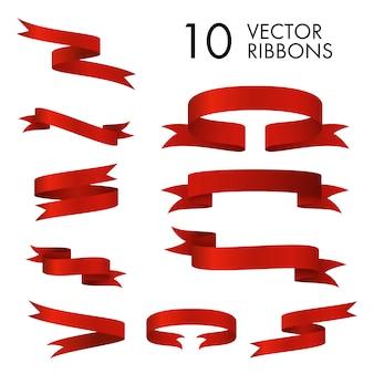 Conjunto de pergaminos de cinta roja