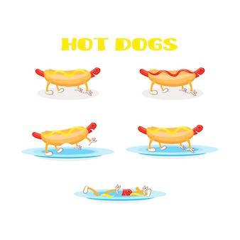 Conjunto de perros calientes