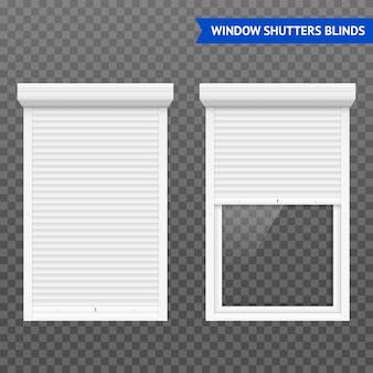Conjunto de persianas enrollables de ventana