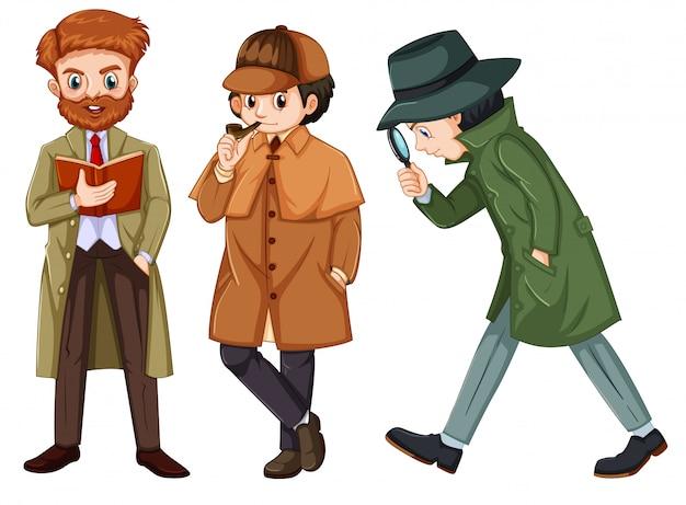 Conjunto de personaje detective.