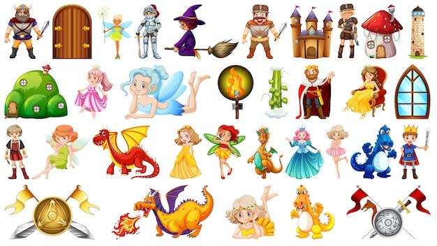 Conjunto de personaje de fantasia