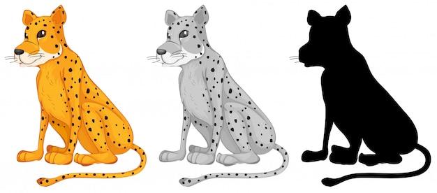 Conjunto de personaje de guepardo
