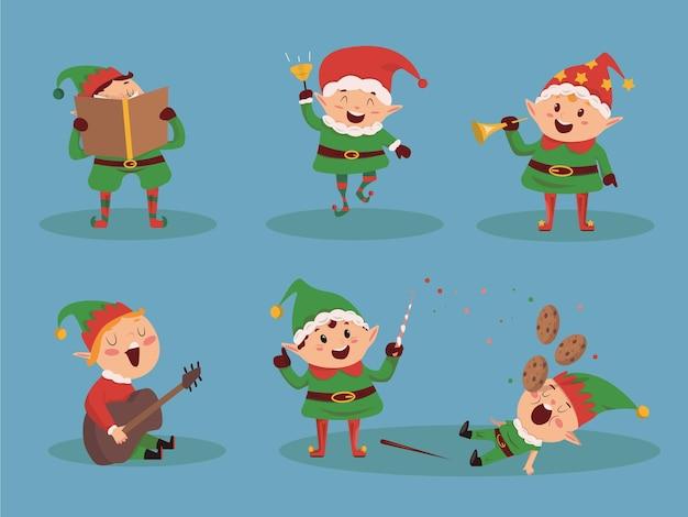 Conjunto de personaje navidad niño