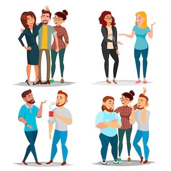Conjunto de personajes de amigos