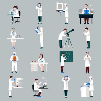Conjunto de personajes científicos