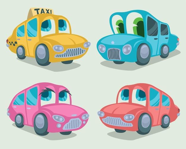 Conjunto de personajes de coche.