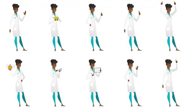 Conjunto de personajes de doctor