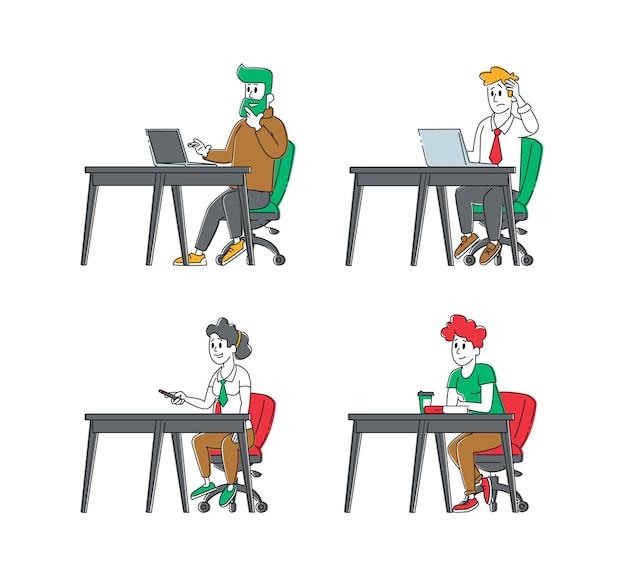 Conjunto de personajes de estudiantes