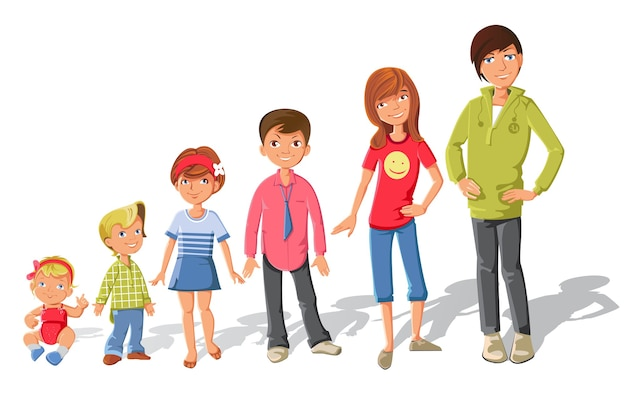 Conjunto de personajes infantiles