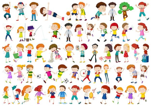 Conjunto de personajes infantiles.